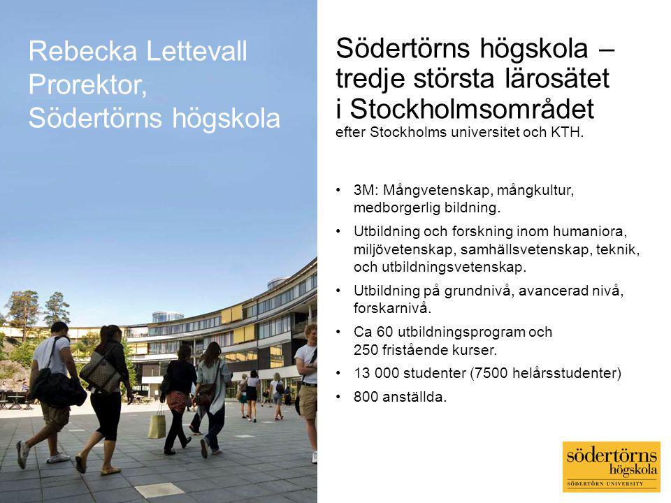 Rebecka Lettevall Prorektor, Södertörns högskola.