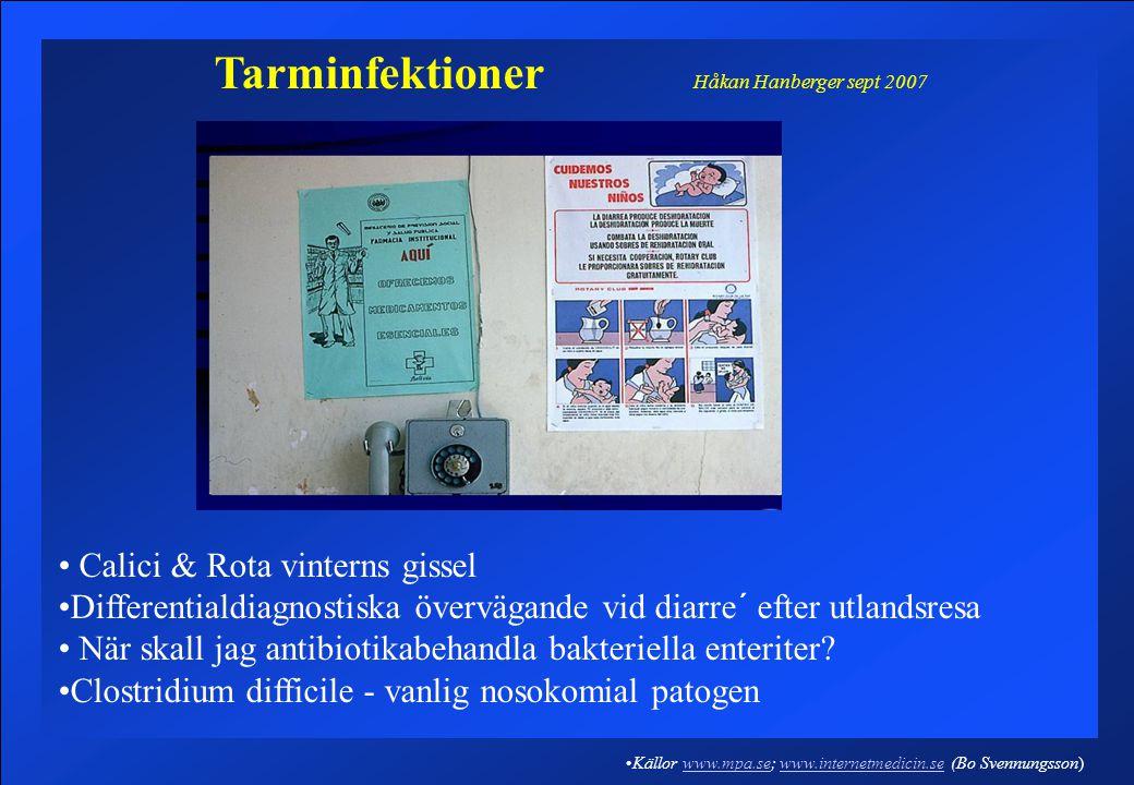 Tarminfektioner Håkan Hanberger sept 2007