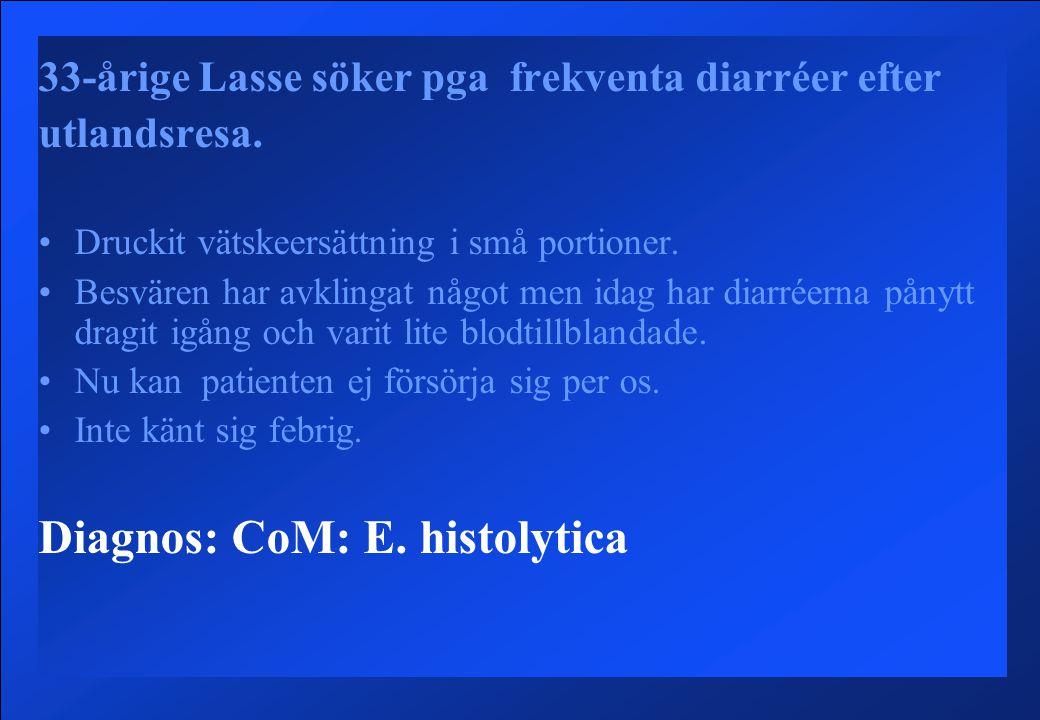 Diagnos: CoM: E. histolytica