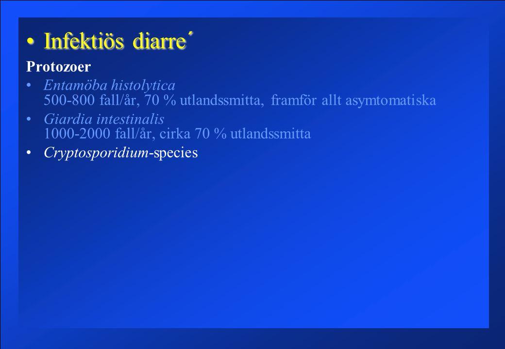 Infektiös diarre´ Protozoer