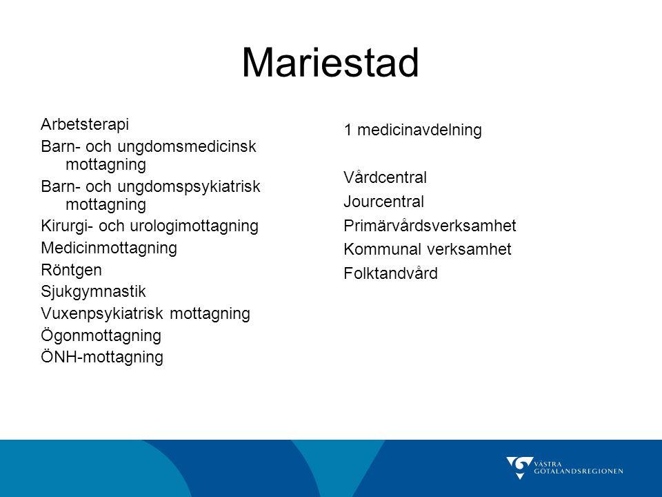 Mariestad Arbetsterapi Barn- och ungdomsmedicinsk mottagning