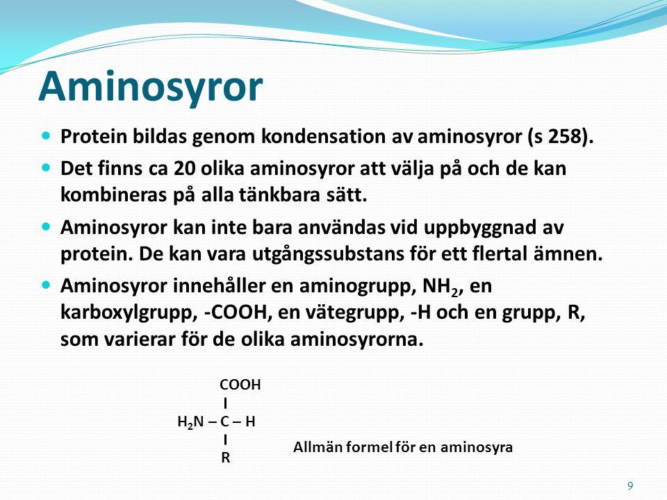 Allmän formel för en aminosyra