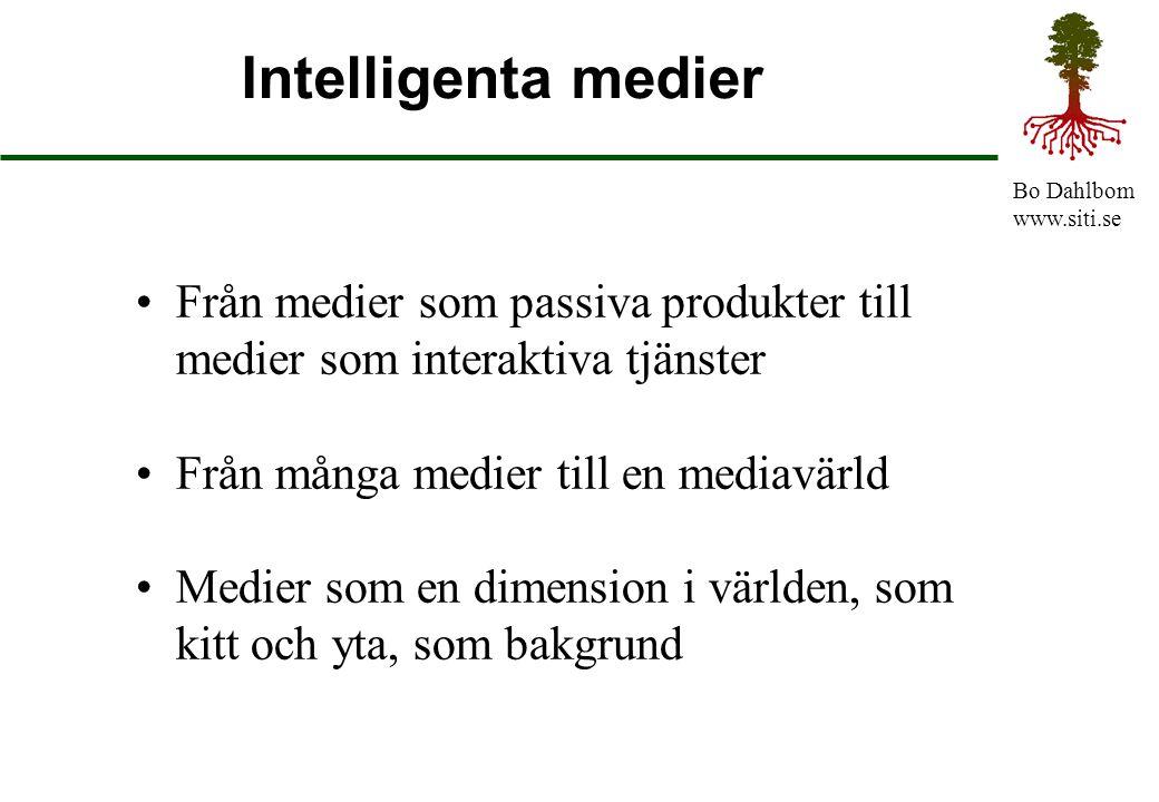 Intelligenta medier Från medier som passiva produkter till medier som interaktiva tjänster. Från många medier till en mediavärld.
