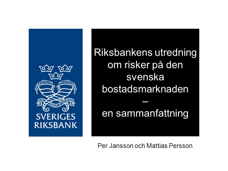 Per Jansson och Mattias Persson