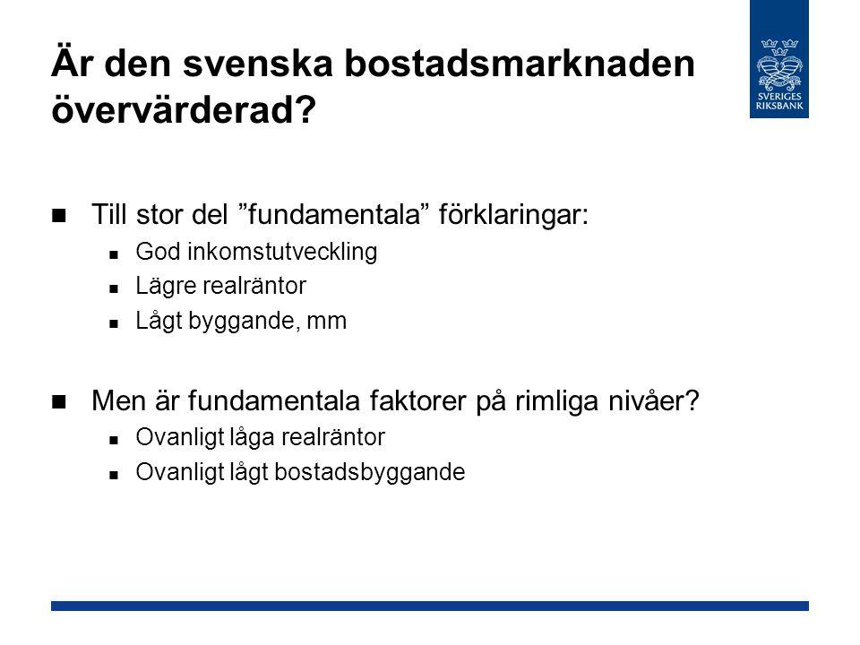 Är den svenska bostadsmarknaden övervärderad