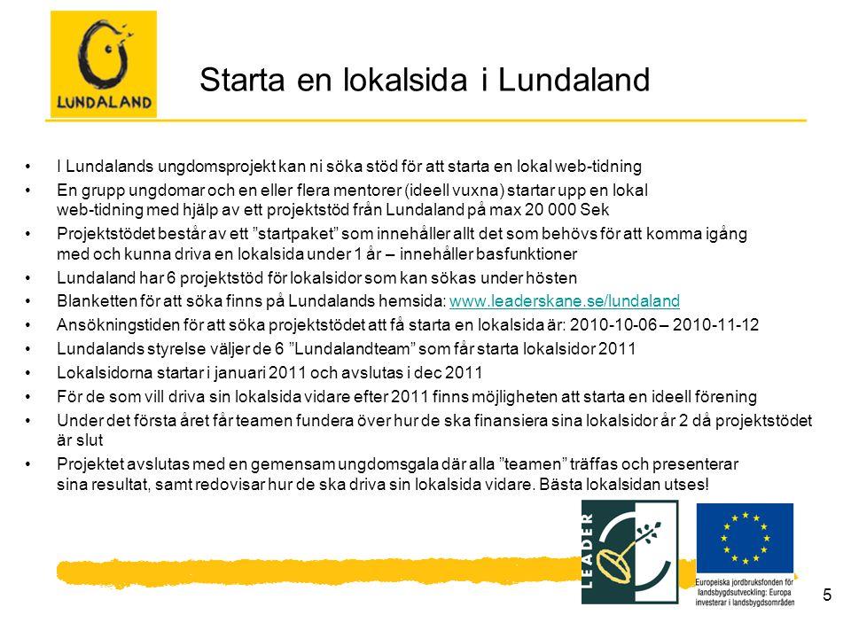Starta en lokalsida i Lundaland