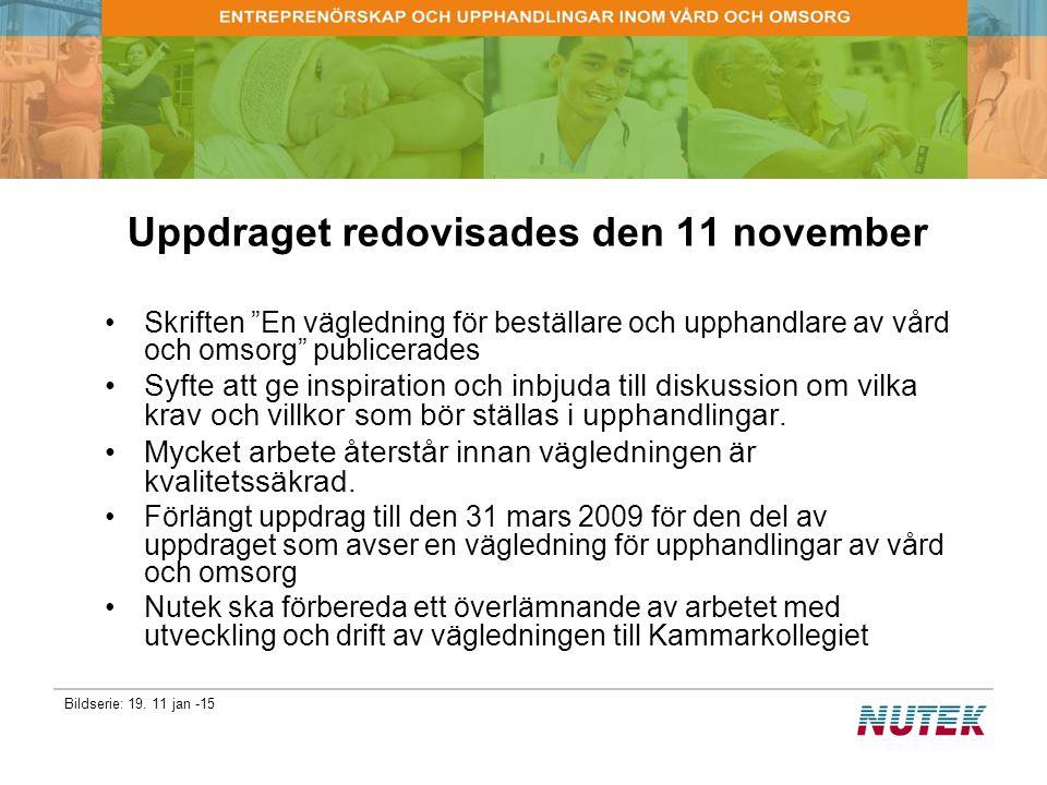 Uppdraget redovisades den 11 november