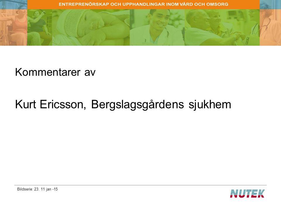 Kurt Ericsson, Bergslagsgårdens sjukhem