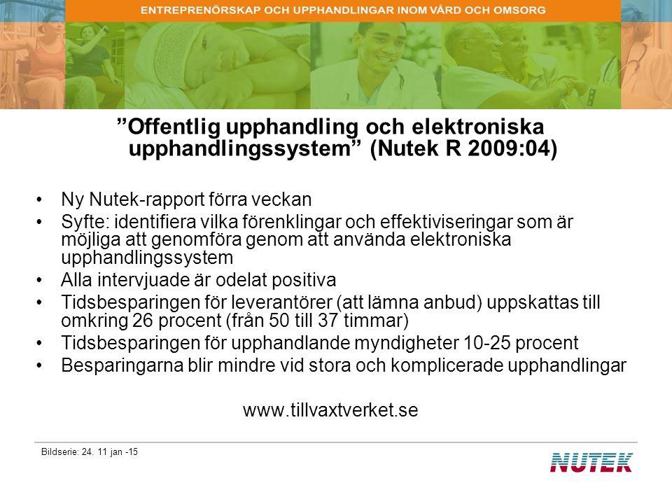 Offentlig upphandling och elektroniska upphandlingssystem (Nutek R 2009:04)