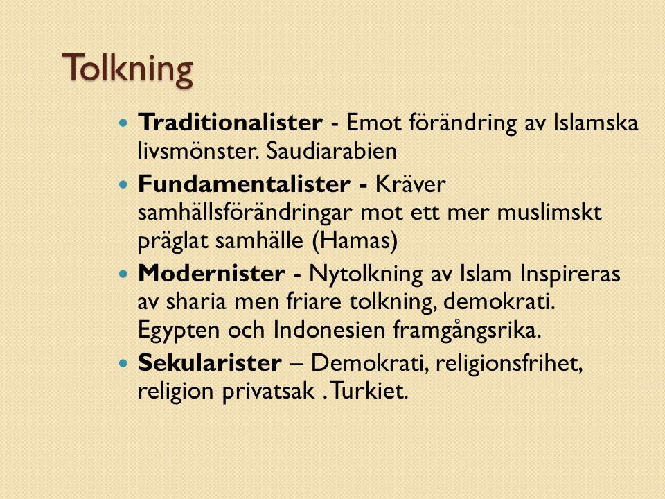 Tolkning Traditionalister - Emot förändring av Islamska livsmönster. Saudiarabien.