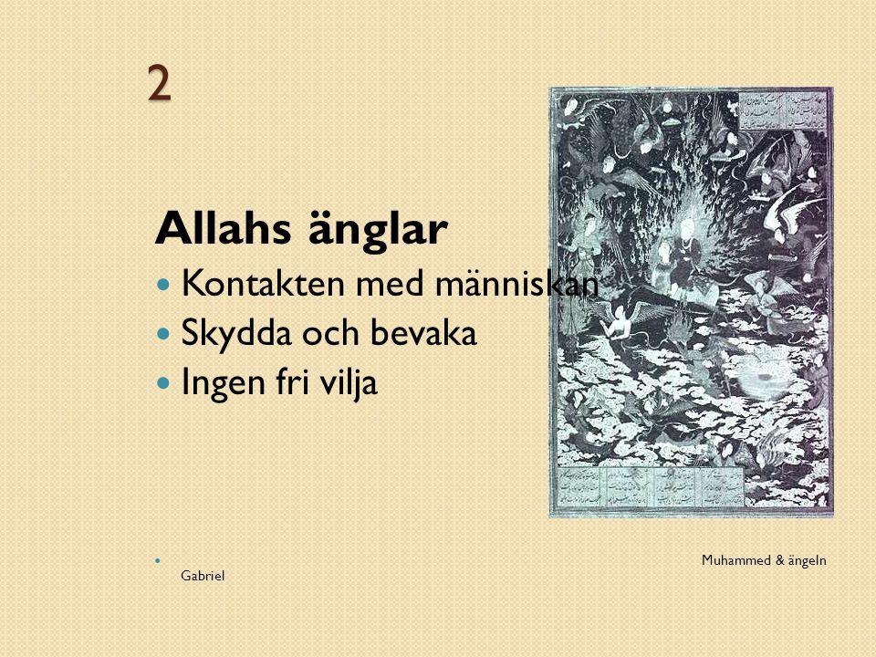 2 Allahs änglar Kontakten med människan Skydda och bevaka