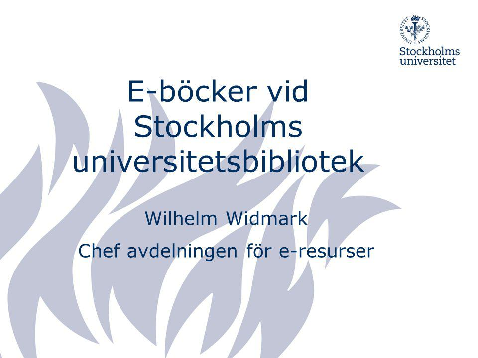 E-böcker vid Stockholms universitetsbibliotek