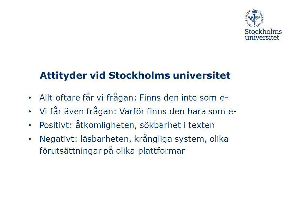 Attityder vid Stockholms universitet