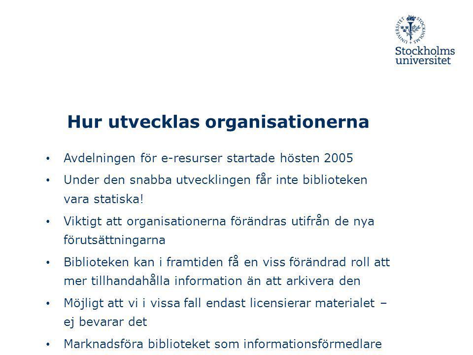 Hur utvecklas organisationerna