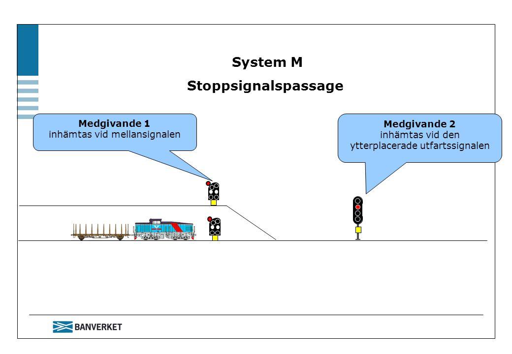 System M Stoppsignalspassage