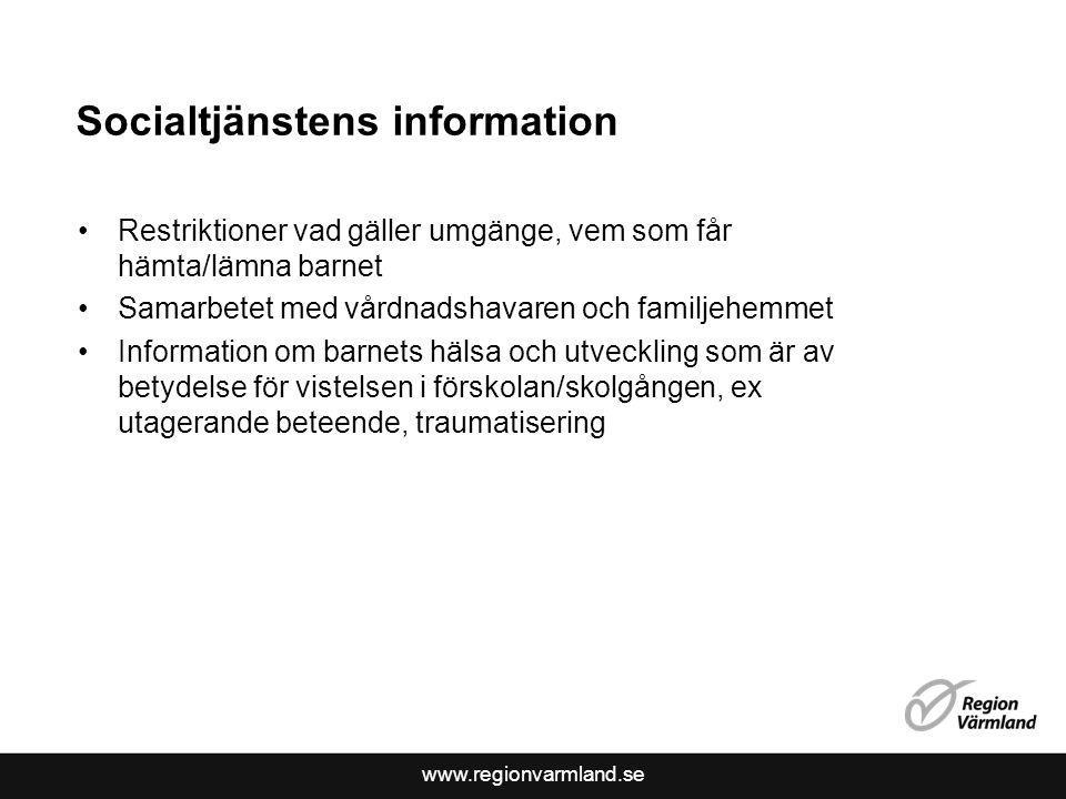 Socialtjänstens information