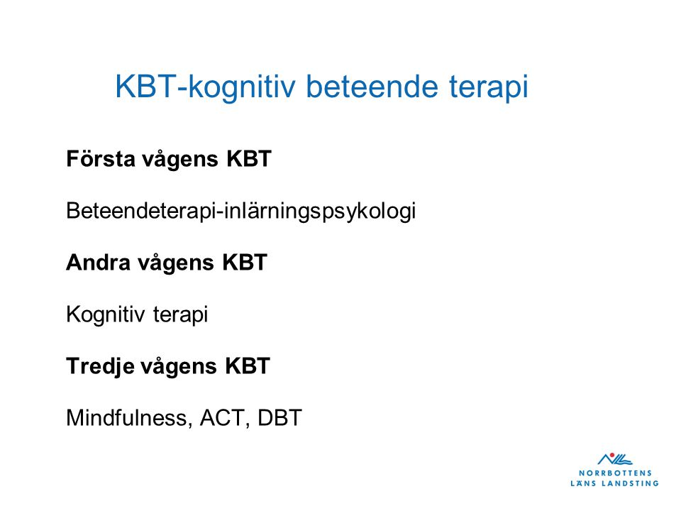 KBT-kognitiv beteende terapi