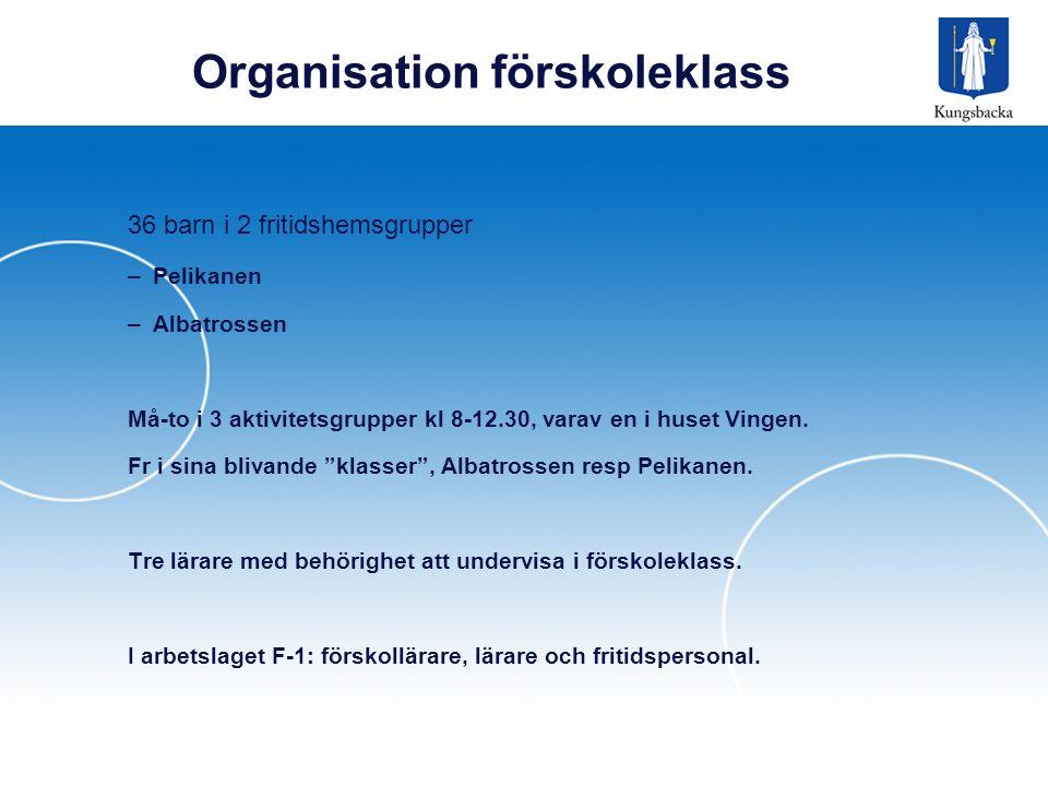 Organisation förskoleklass