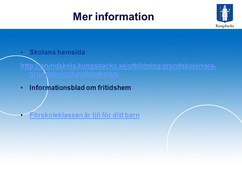 Mer information Skolans hemsida