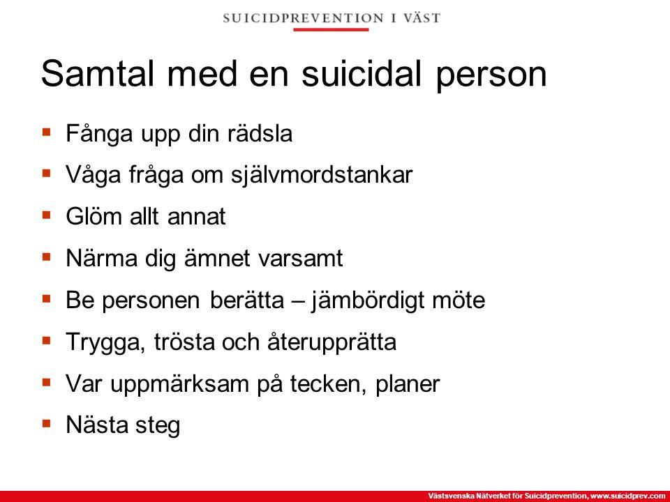 Samtal med en suicidal person