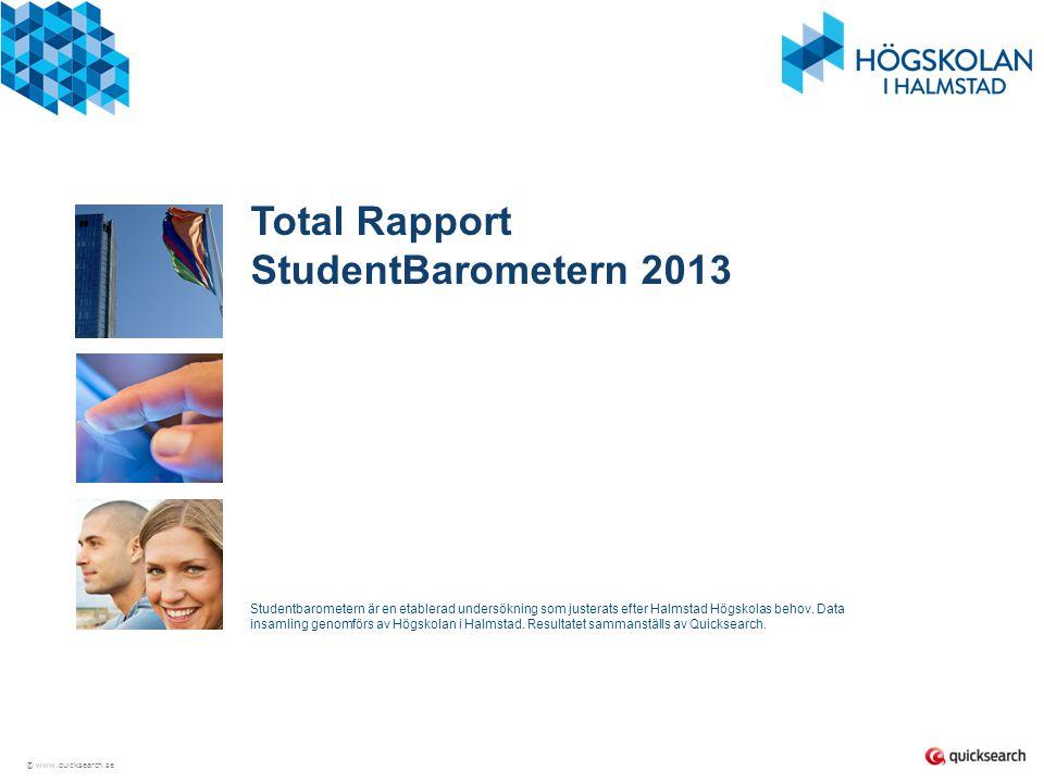 Total Rapport StudentBarometern 2013