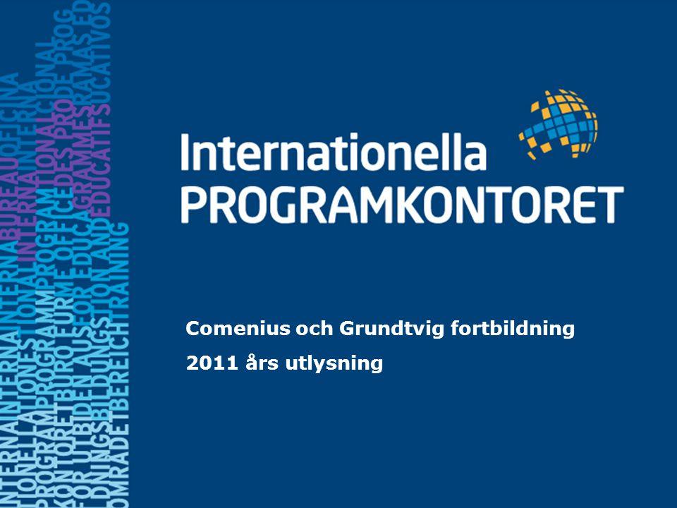 Comenius och Grundtvig fortbildning