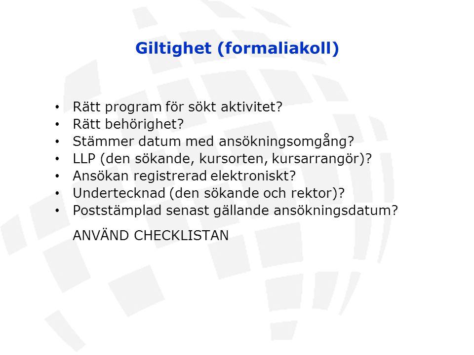 Giltighet (formaliakoll)