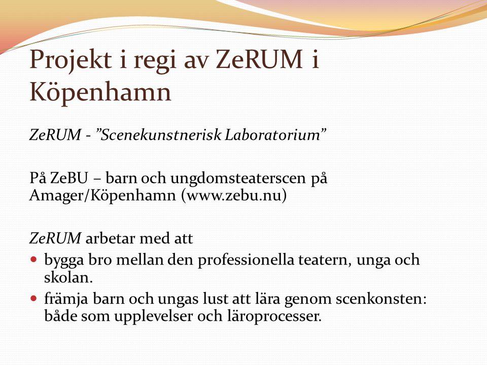 Projekt i regi av ZeRUM i Köpenhamn