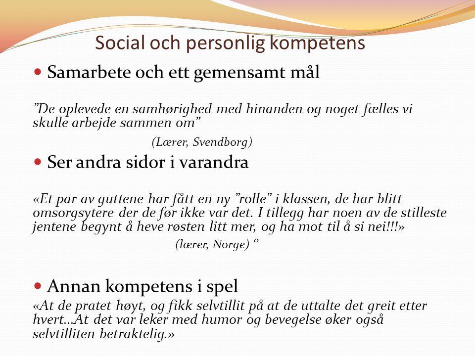 Social och personlig kompetens