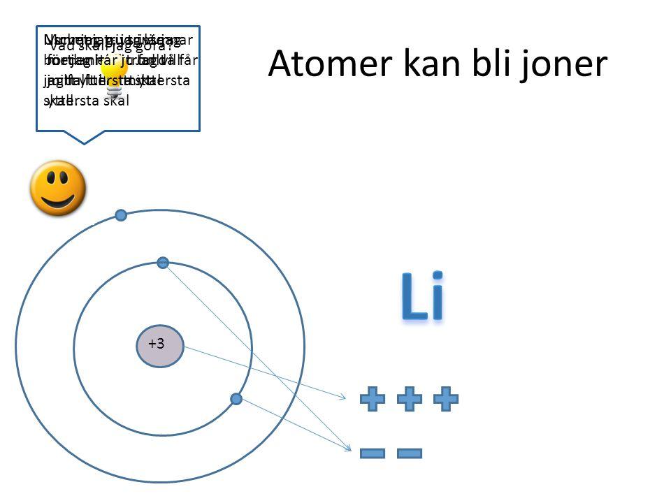 Li Atomer kan bli joner Usch jag trivs inte med mitt liv. Jag vill