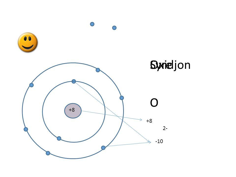 Syre O Oxidjon O +8 +8 2- -10