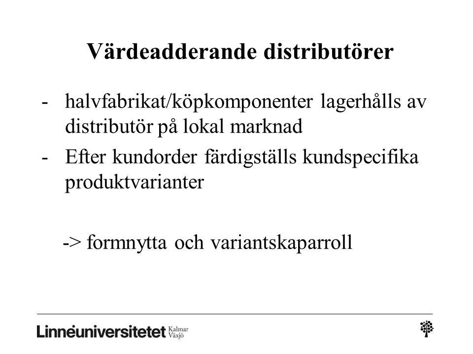 Värdeadderande distributörer