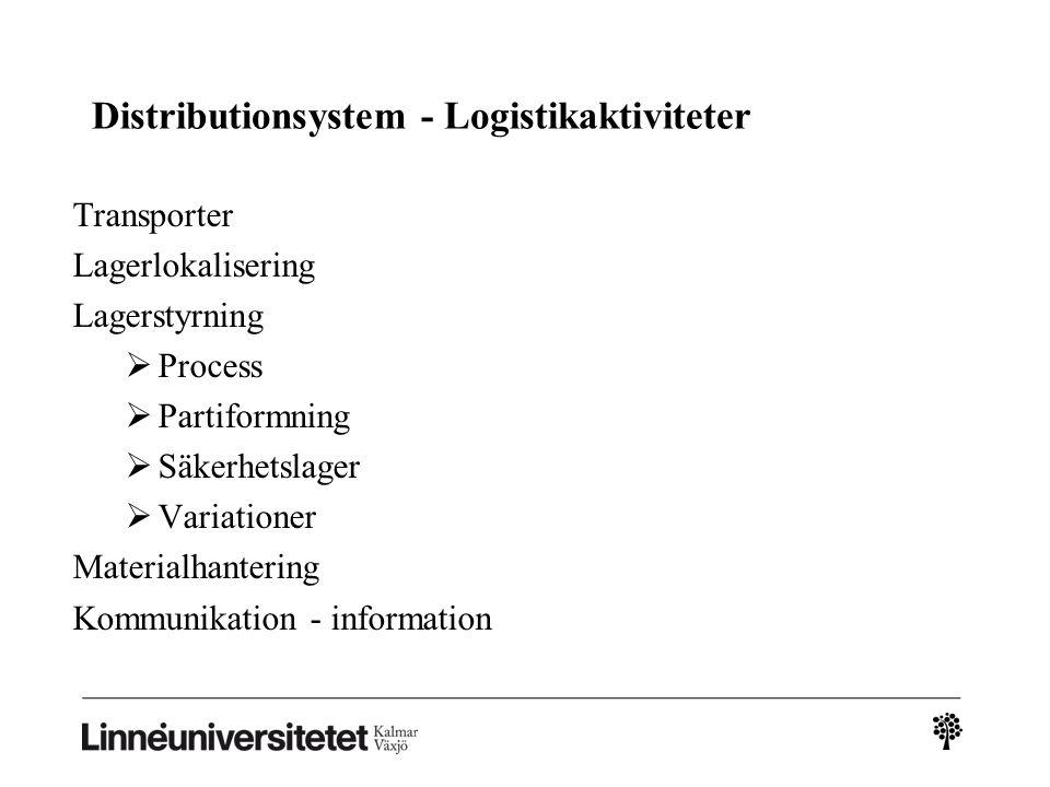 Distributionsystem - Logistikaktiviteter