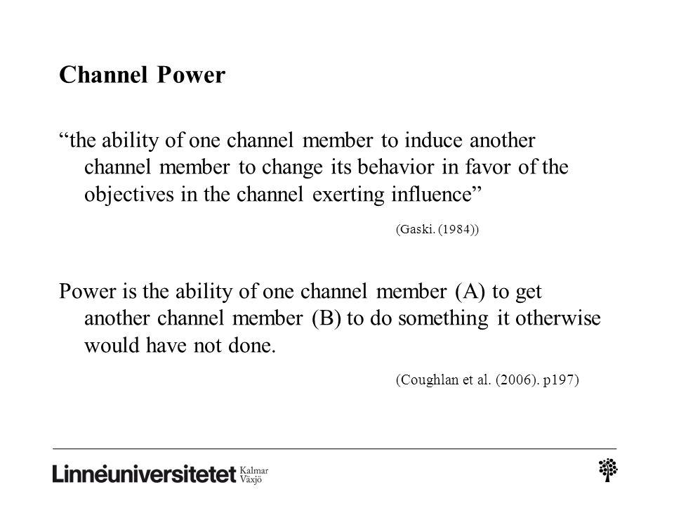 Channel Power