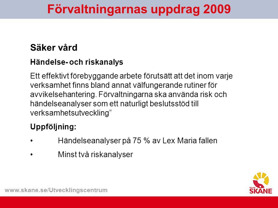 Förvaltningarnas uppdrag 2009