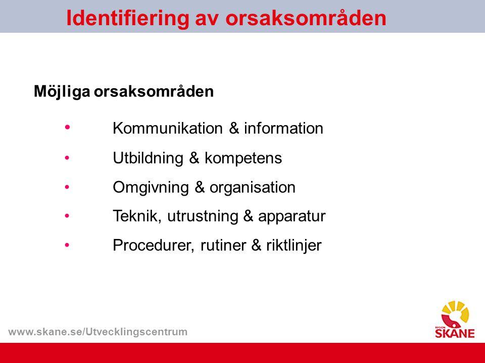 Identifiering av orsaksområden