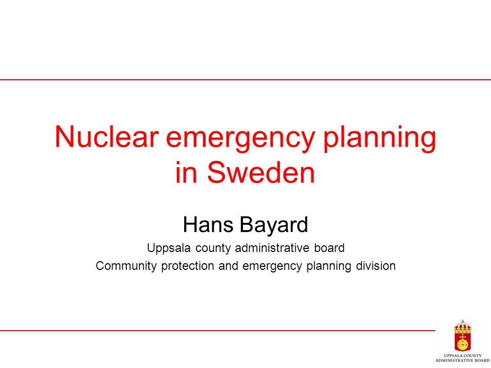 Nuclear emergency planning in Sweden