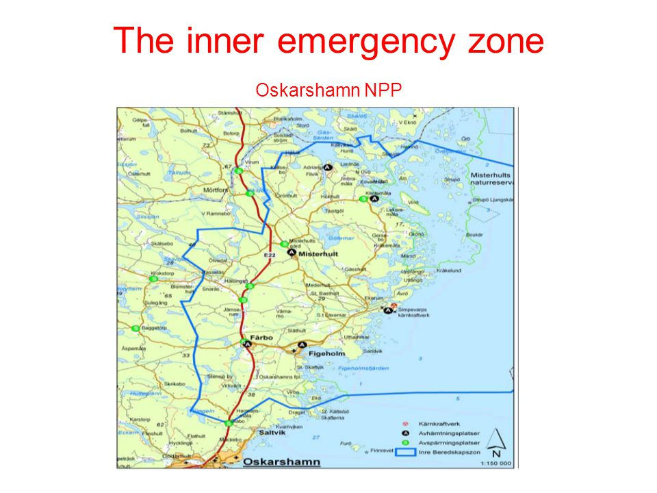The inner emergency zone Oskarshamn NPP