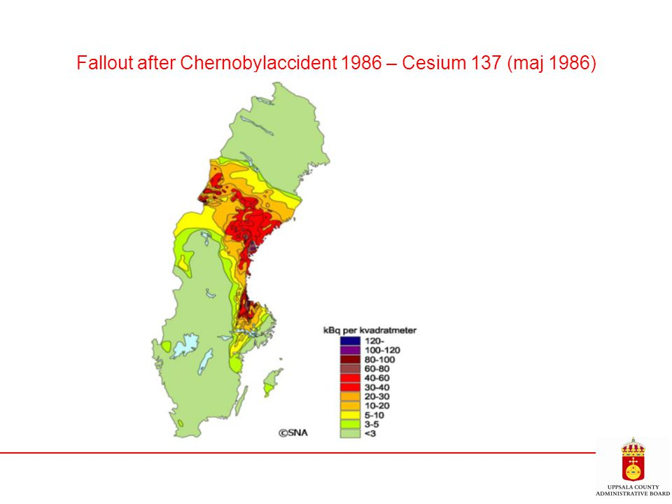 Fallout after Chernobylaccident 1986 – Cesium 137 (maj 1986)