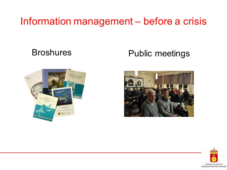 Information management – before a crisis