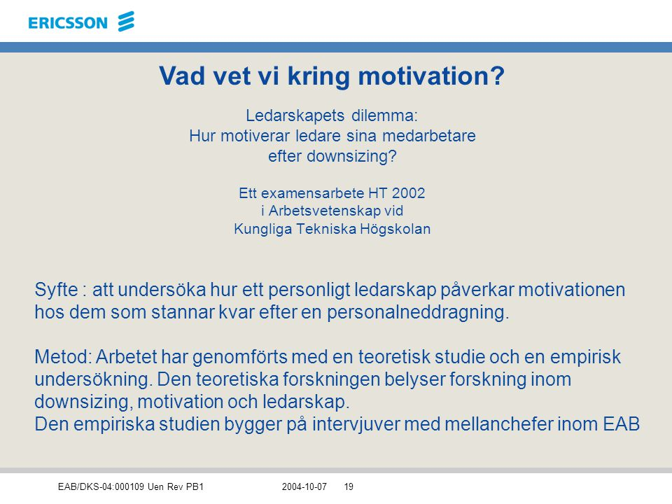Vad vet vi kring motivation