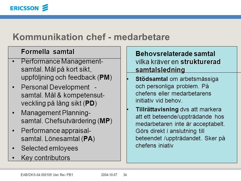Kommunikation chef - medarbetare