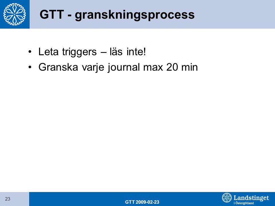 GTT - granskningsprocess