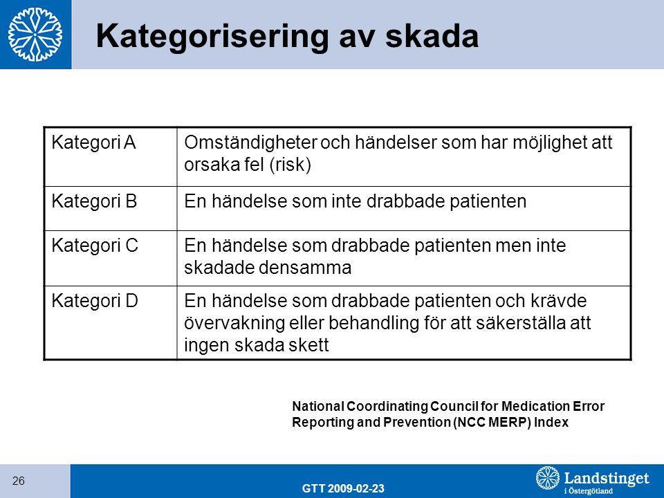 Kategorisering av skada