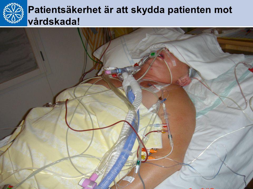 Patientsäkerhet är att skydda patienten mot vårdskada!