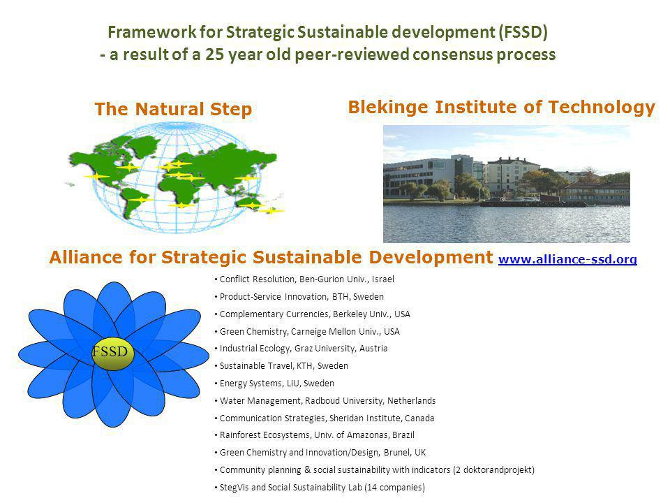 Framework for Strategic Sustainable development (FSSD)