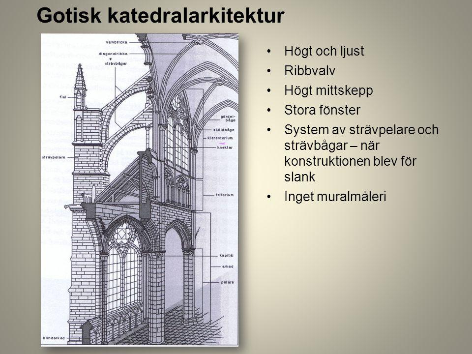 Gotisk katedralarkitektur