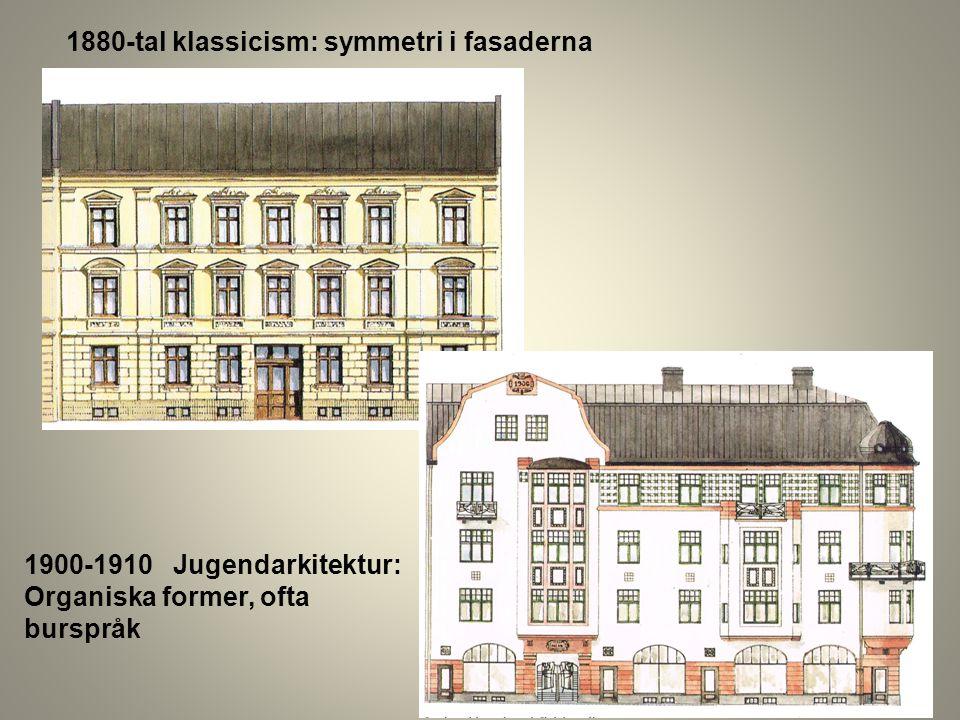 1880-tal klassicism: symmetri i fasaderna