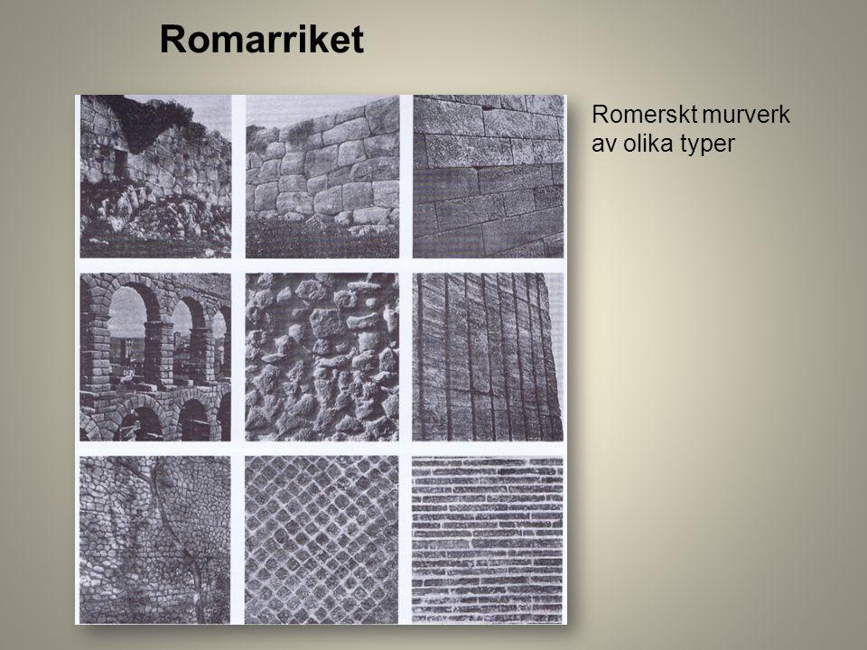 Romarriket Romerskt murverk av olika typer