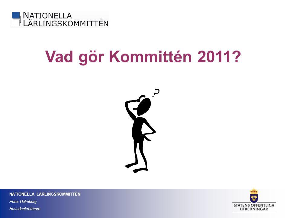 Vad gör Kommittén 2011